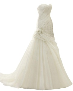 Rachel Weisz Women's Sweetheart Lace Mermaid Flower Sash Wedding Dresses Bride Evening Formal Ball Gown White US12