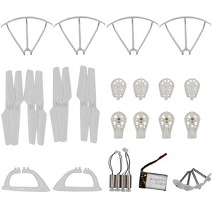 AVAWO MJX X400 X400W Quadcopter Spare Parts Crash Pack Kit Replacement, Main Blade Propellers & Motor & Propeller Protectors Blades Frame & Landing Skid & Battery & Main Gears Set & Motor Base