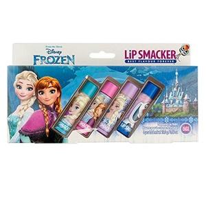 New Disney Frozen Lip Smacker set of 4 flavoured lip balm gift set