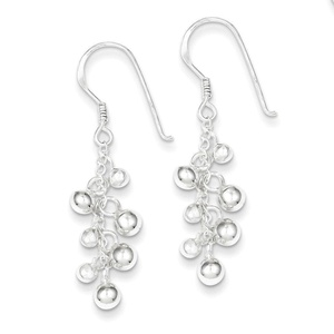 .925 Sterling Silver 41 MM Fancy Dangle Shepherd Hook Earrings