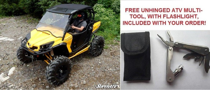Bundle 2 items: Super ATV Can-Am Commander Soft Top and FREE Unhinged ATV Multi-Tool