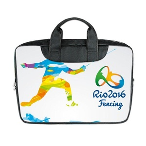 JIUDUIDODO Custom Cool 2016 Rio Olympics Souvenir Nylon Waterproof Bag Computer Bag Handbag for Laptop 15