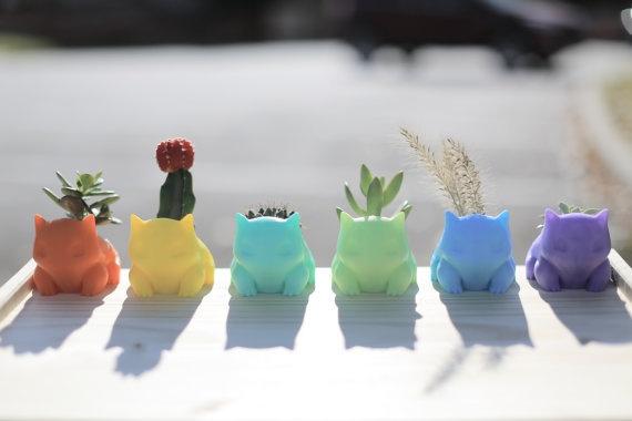 3D Printed Cartoon Pokemon Succulent  Accessories
