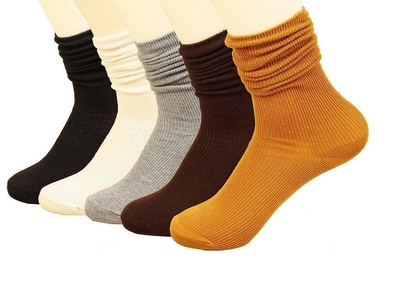 Imaly Women's 5 Pair Colorful Non Slip Patterned Ankle Casual Socks