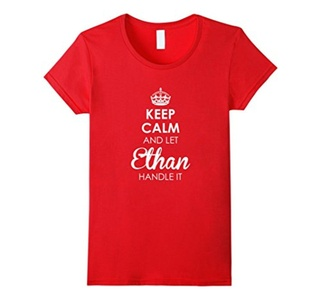 Women's Keep Calm And Let Ethan Handle It - Keep Calm Tee Shirts Large Red