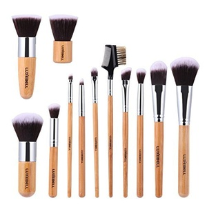 Luxebell? 12 pcs Professional Bamboo Handle Kabuki Concealer Eye Face Liquid Powder Cream Cosmetics Make Up Brushes Kit by Luxebell
