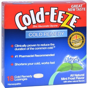 2Pack! Cold-EEZE Cold Remedy Lozenges Mint Frost - 18 Lozenges