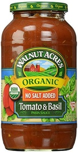 Walnut Acres, Tomato & Basil Pasta Sauce, Fat Free, Low Sodium, 25.5 oz by Walnut Acres