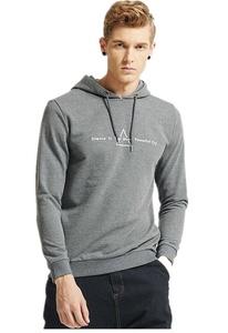 Men's Casual Sportwear Pullover Drawstring Hoodie Sweatshirt Outwear Grey
