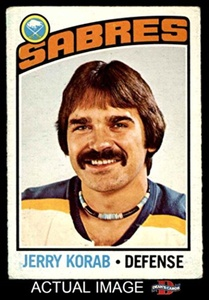 1976 O-Pee-Chee NHL # 27 Jerry Korab Buffalo Sabres (Hockey Card) Dean's Cards 2 - GOOD