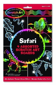 Scratch Art Magic Draw and Learn Animal Safari by Scratch Art