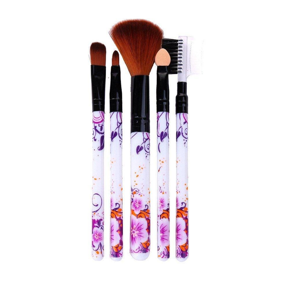 Baomabao 5Pcs/set Concealer Brushes Powder Blush Cosmetic Makeup Brush Set Tool