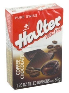Halter Sugar-Free Coffee Chocolate Filled Bonbons (Pack of 16) by Halter