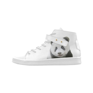Shoes No.1 Women's Sneakers Lyra Round Toe High-top Shoes Panda Bear For Outdoor