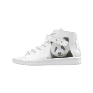 Shoes No.1 Women's Sneakers Lyra Round Toe High-top Shoes Panda Bear For Outdoor