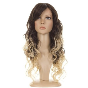 Hair By MissTresses Ombre Long Curly Lace Front Wig Bouncy Bodywave Curls, Dark Brown/ Light Blonde Dip Dyed Effect by Hair By MissTresses