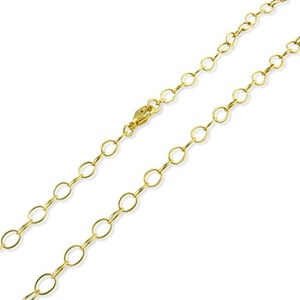 14k Gold Plated Sterling Silver 5mm Cable Chain 12