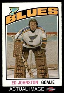 1976 O-Pee-Chee NHL # 285 Ed Johnston St. Louis Blues (Hockey Card) Dean's Cards 5 - EX
