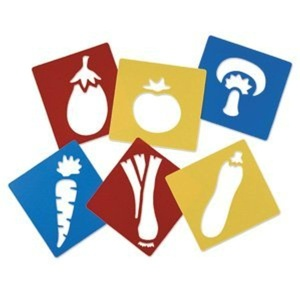 VEGETABLE STENCILS N75 by S&S Services