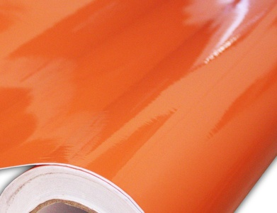 Hachi Auto Gloss Orange Vinyl Car Wrap 12-by-60-inch