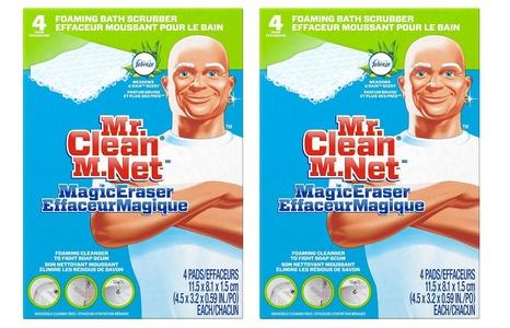 Mr. Clean Magic Eraser Bath Scrubber, 4-Count