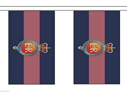 British Army Household Cavalry Regiment Material String Flags / Bunting 10m (33') Long With 28 Flags