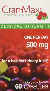 Cran-Max Cranberry Concentrate 500mg, Capsules, 60 Count (5 Pack)