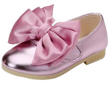 Baby Girls Bowknot Velcro Flat Danceing Ballerina Princess Shoes Mary Jane