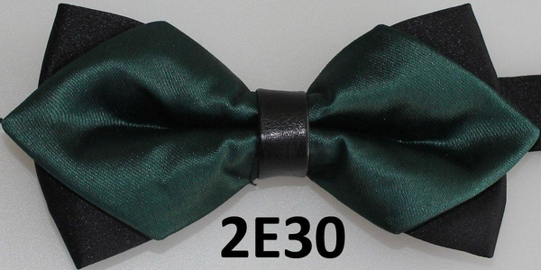 2016 Latest Tie Solid Color Gift Sets Bow Tie For Men Deep Green Bowtie
