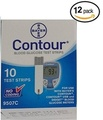 Bayer Contour Blood Glucose, 120 Strips by Contour