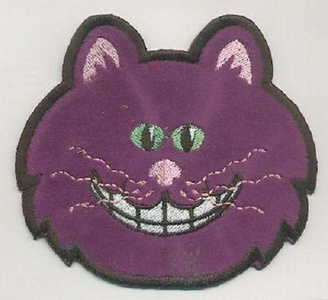 1Pcs Applique Patches Logo Patterns Animal, Cute Purple CAT Halloween Embroidery Applique Patch Iron-on Sewing Lace Embroidered Craft Supply Fabric Decorative, Size 3.5