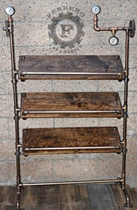 Steampunk Display Shelf, Industrial Display Shelf, Store Display, Boutique Display, Office Decor, Steampunk Decor, Steampunk Art