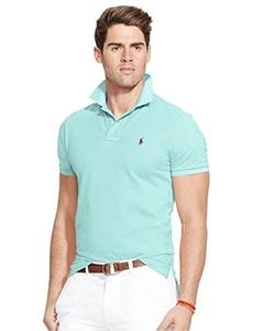 Polo Ralph Lauren Custom Fit Mesh Polo Shirt for Men light green M