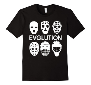 Men's Goalie Mask Evolution Shirt - Gift Ice Hockey Player 2XL Black