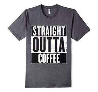 Men's Straight Outta Coffee Small Asphalt