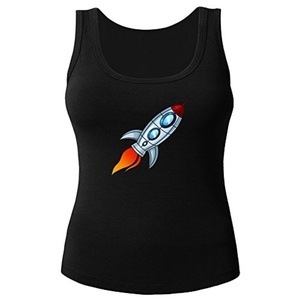 Spaceship for Women Printed Tanks Tops Sleeveless T-shirt