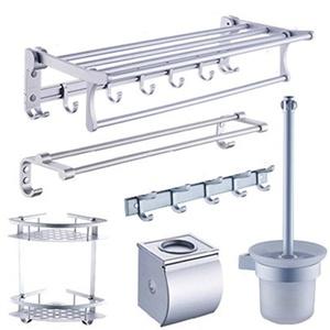 The bathroom Towel rack/Bathroom racks/Space aluminum bathroom accessories set of six-A