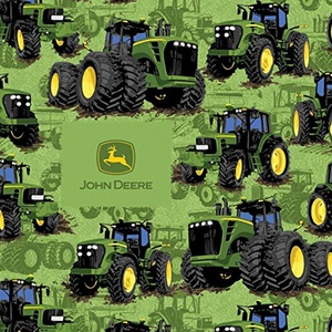 John Deere Tractor Flip Fabric From Springs Creative By the Yard