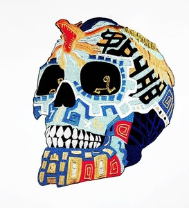 XXL BIG King Cobra Snake Sugar Skull The Savage Motorcycle biker club Patch biker club Patch symbol Biker jacket vest large Embroidered Iron on Hat Hoodie Backpack Ideal for Birthday Gift