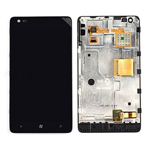 New Nokia Lumia 900 AT&T Touch Digitizer +LCD Display Assembly With Frame
