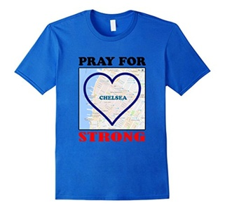 Men's PRAY FOR #CHELSEA TSHIRT - #CHELSEA STRONG- 100% COTTON XL Royal Blue