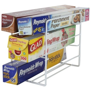 Home-X Kitchen Wrap Organizer. Holds Up to 6 Products