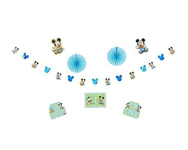 Mickey's 1st Birthday Decoration Kit by Napkins