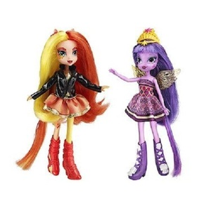 My Little Pony Toy - Equestria Girls Sunset Shimmer and Twilight Sparkle Deluxe Fashion Dolls by My Little Pony Equestria Girls
