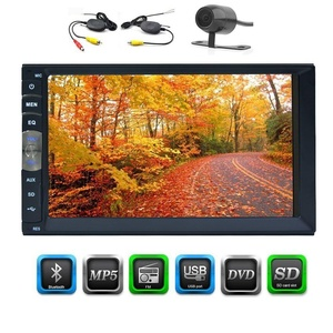 Free Rear Camera as Gift EinCar 7 inch Universal 2 Din Car Stereo Head Unit Car NO DVD Player HD Multimedia Bluetooth SD USB Radio Entertainment with capacitive Touch Screen Head Unit