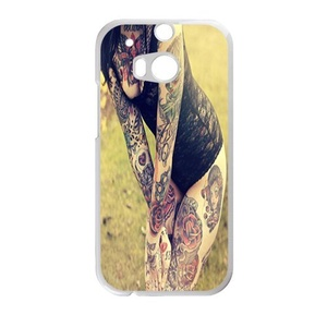 Personality Tattoo Women HTC ONE M8 Case Customize Parttern Design - Hard Plastic Cover Case Protection for plastic HTC ONE M8 Case