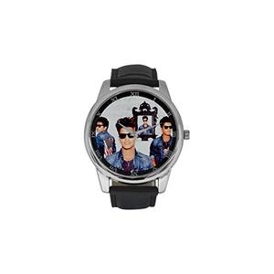 Bruno Mars Logo DBLN496 Men Wrist Watches Leather Strap Large Dial Watch