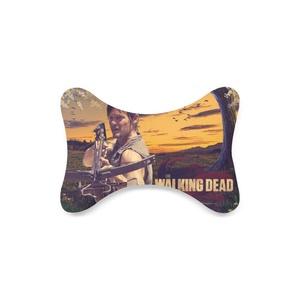 Fashion Custom Daryl Dixon The Walking Dead Bone Shape Car Seat Neck Rest Custom Car Neck Pillow/Cushion Head Support Neck Support Pillow