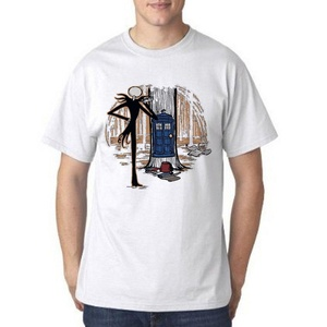 Doctor Who Nightmare Before Christmas Who's for Men T Shirt (Small, White)