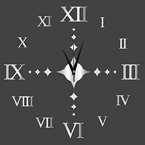 WYMBS Gifts home decor DIY spell wall sticker clock Spell wall wall sticker DIY sofa 3D decorative clock wall